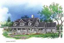 Architectural House Design - Country Exterior - Front Elevation Plan #929-175