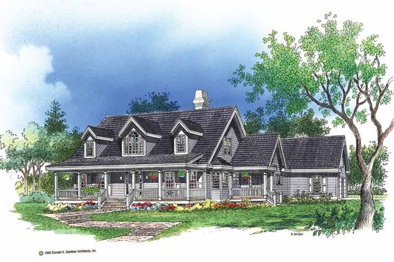 Home Plan - Country Exterior - Front Elevation Plan #929-175