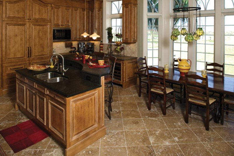 Mediterranean Interior - Kitchen Plan #929-900 - Houseplans.com