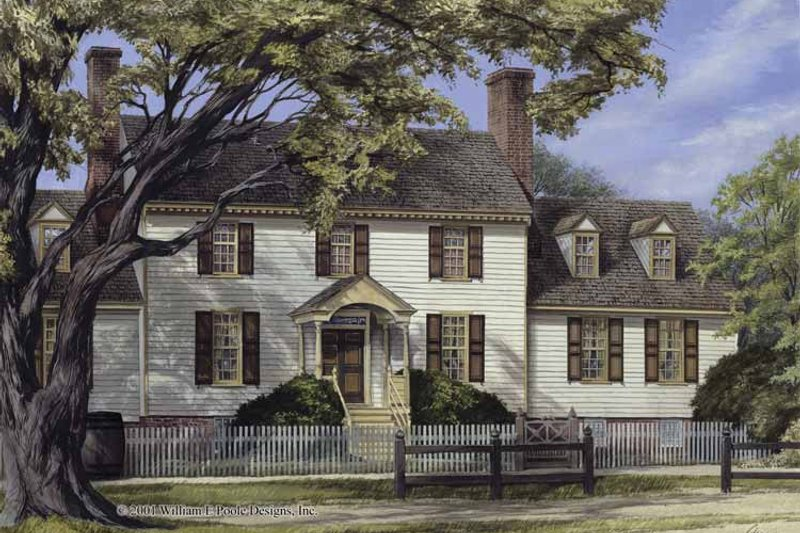 Colonial Exterior - Front Elevation Plan #137-345