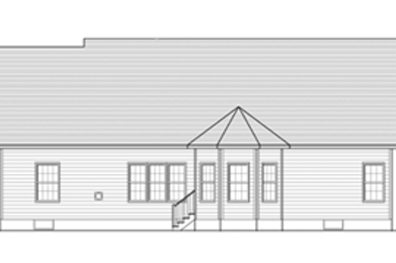 Ranch Exterior - Rear Elevation Plan #1010-42 - Houseplans.com