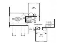 Craftsman Floor Plan - Upper Floor Plan Plan #316-282