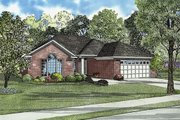 European Style House Plan - 3 Beds 2 Baths 1576 Sq/Ft Plan #17-657 Exterior - Front Elevation