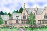 European Style House Plan - 4 Beds 3.5 Baths 4006 Sq/Ft Plan #52-130 Exterior - Rear Elevation