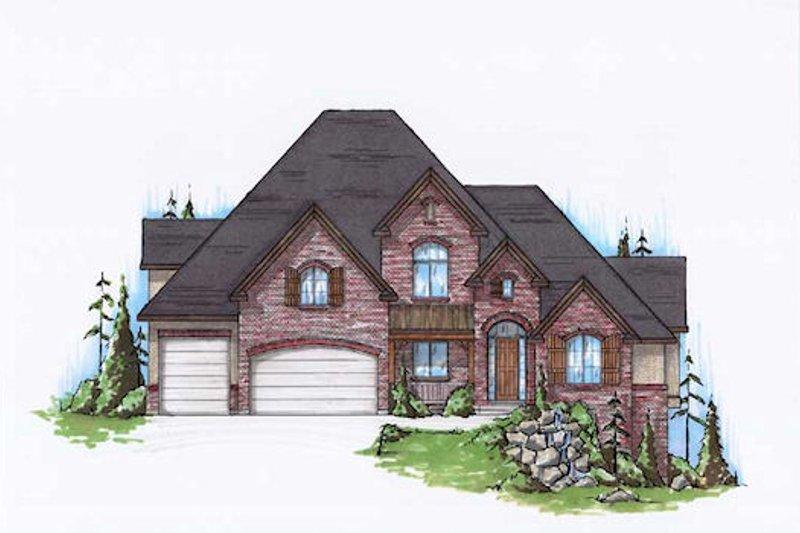 Dream House Plan - European Exterior - Front Elevation Plan #5-405