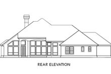 Mediterranean Exterior - Rear Elevation Plan #48-295