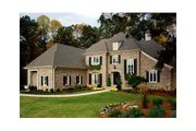 European Style House Plan - 4 Beds 4.5 Baths 4287 Sq/Ft Plan #429-39 Exterior - Other Elevation