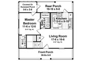 Traditional Style House Plan - 3 Beds 2 Baths 1200 Sq/Ft Plan #21-225 Floor Plan - Main Floor Plan