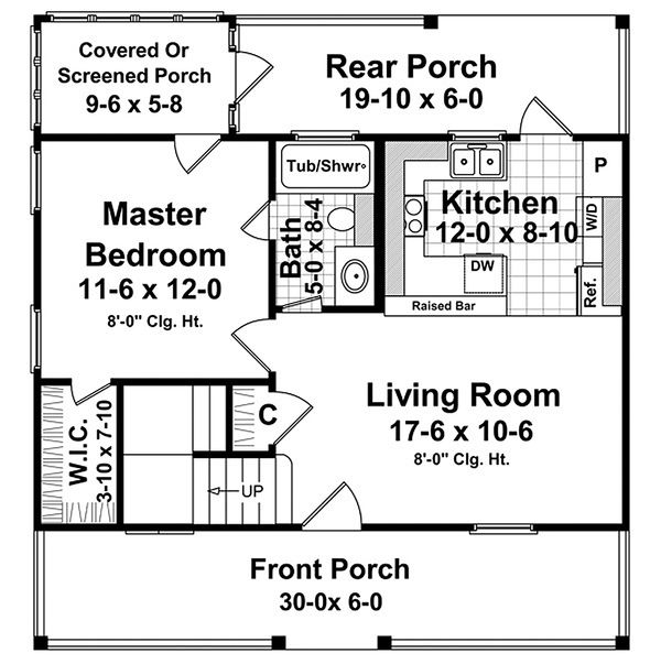 Traditional Floor Plan - Main Floor Plan Plan #21-225