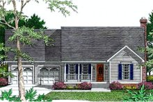 Dream House Plan - Southern Exterior - Front Elevation Plan #406-212