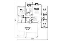 Ranch Floor Plan - Main Floor Plan Plan #20-1869