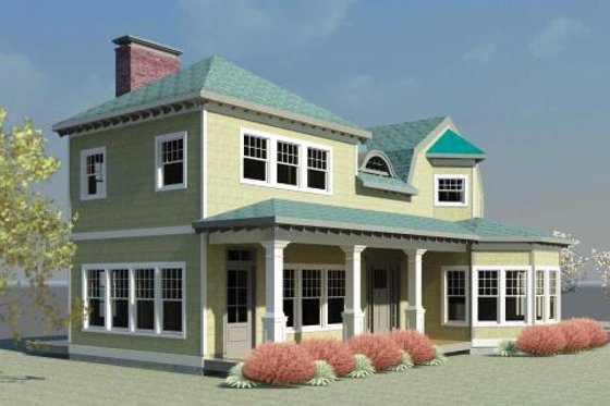Country Exterior - Front Elevation Plan #524-1