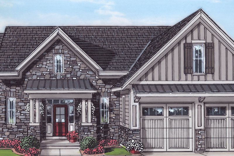 Home Plan - Country Exterior - Front Elevation Plan #46-900