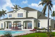 Mediterranean Style House Plan - 6 Beds 4.5 Baths 3448 Sq/Ft Plan #23-2249 Exterior - Rear Elevation