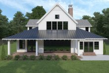 House Plan Design - Farmhouse Exterior - Rear Elevation Plan #1070-3