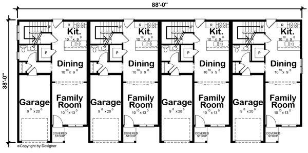 Contemporary Floor Plan - Main Floor Plan #20-2464