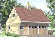 Country Style House Plan - 1 Beds 1 Baths 350 Sq/Ft Plan #116-133 Exterior - Front Elevation