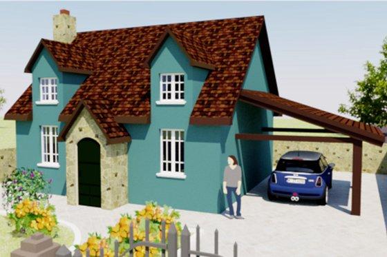 Tudor Exterior - Front Elevation Plan #542-7