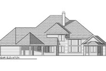 Dream House Plan - European Exterior - Rear Elevation Plan #70-957