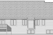 European Style House Plan - 3 Beds 2 Baths 1954 Sq/Ft Plan #70-616 Exterior - Rear Elevation