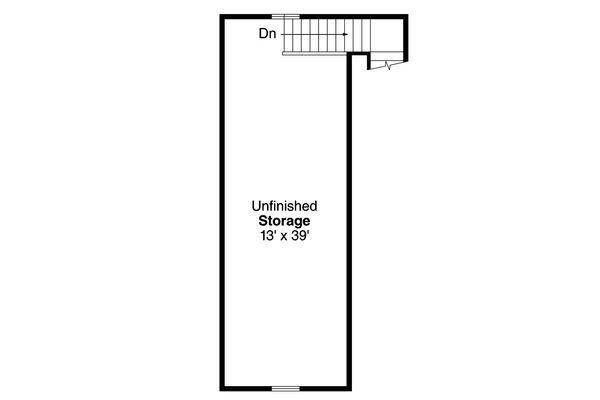 Traditional Floor Plan - Upper Floor Plan #124-986