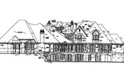 European Style House Plan - 6 Beds 7.5 Baths 9772 Sq/Ft Plan #141-279 Exterior - Rear Elevation