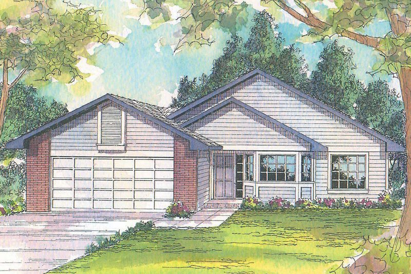 Traditional Exterior - Front Elevation Plan #124-414