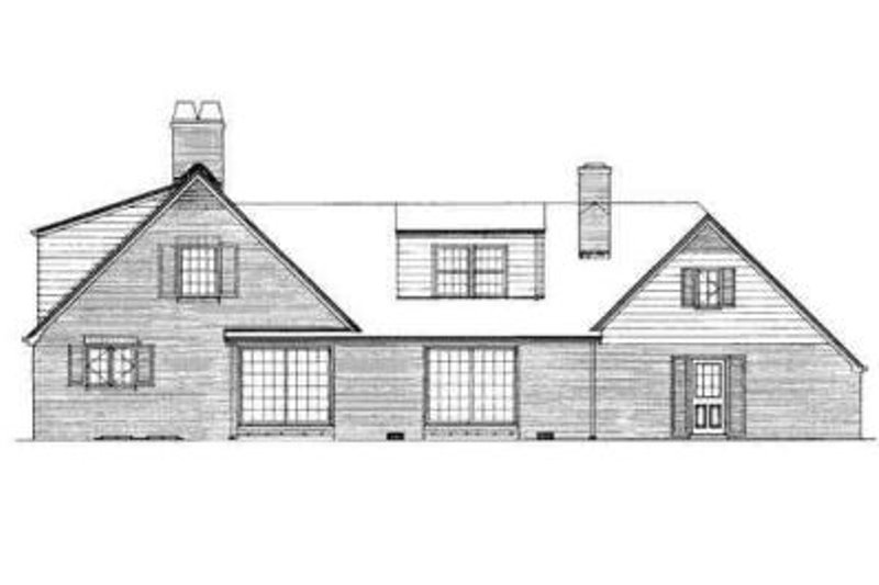 Traditional Exterior - Rear Elevation Plan #72-201 - Houseplans.com