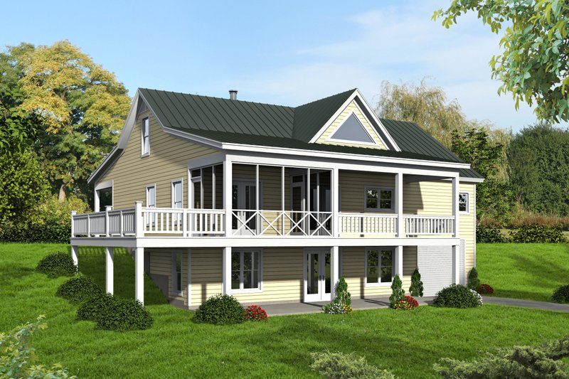 Country Exterior - Rear Elevation Plan #932-15
