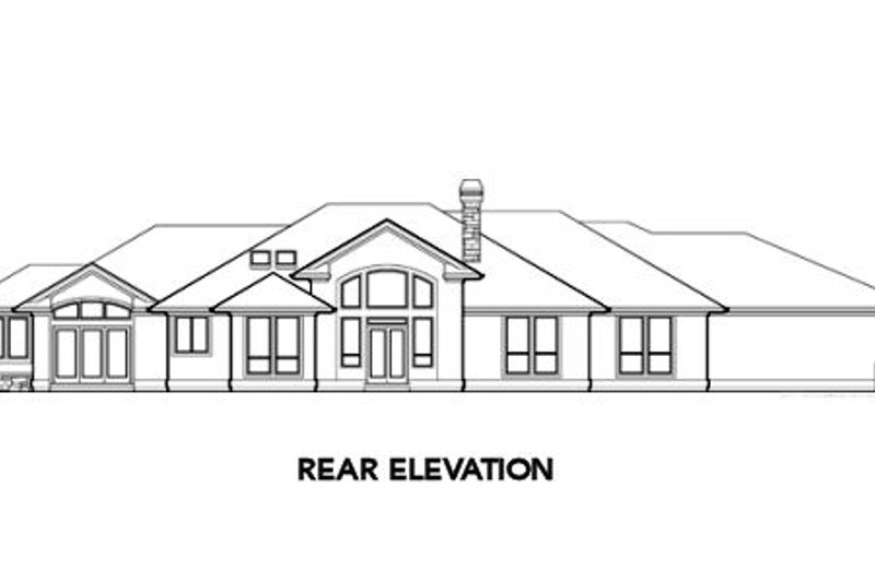 Ranch Exterior - Rear Elevation Plan #48-288 - Houseplans.com