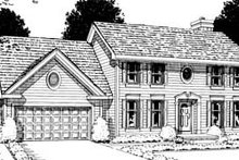 House Plan Design - Colonial Exterior - Front Elevation Plan #20-265