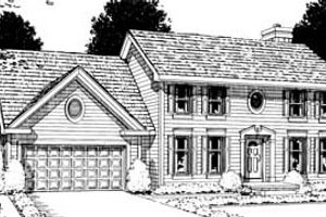 Colonial Exterior - Front Elevation Plan #20-265