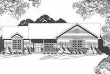 House Plan Design - Ranch Exterior - Front Elevation Plan #58-128