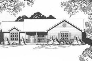 Ranch Exterior - Front Elevation Plan #58-128