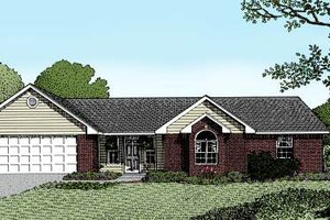 Ranch Exterior - Front Elevation Plan #11-104