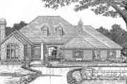 European Style House Plan - 4 Beds 2.5 Baths 2570 Sq/Ft Plan #310-629 Exterior - Front Elevation