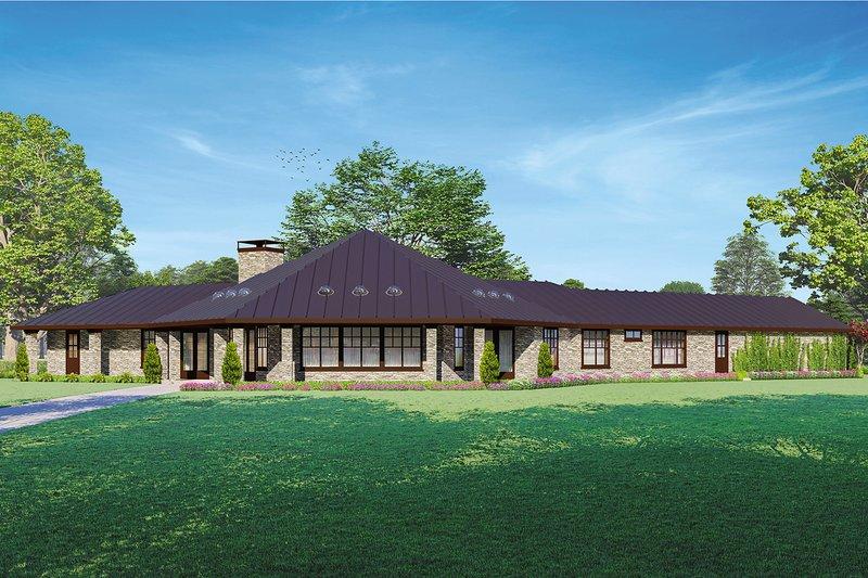 House Plan Design - Craftsman Exterior - Rear Elevation Plan #124-1259