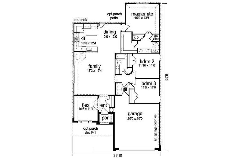 Craftsman Floor Plan - Main Floor Plan Plan #84-264