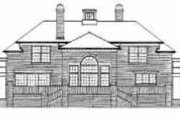 Colonial Style House Plan - 4 Beds 4.5 Baths 5083 Sq/Ft Plan #72-368 Exterior - Rear Elevation