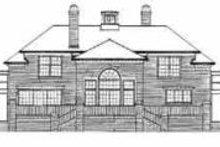 Colonial Exterior - Rear Elevation Plan #72-368