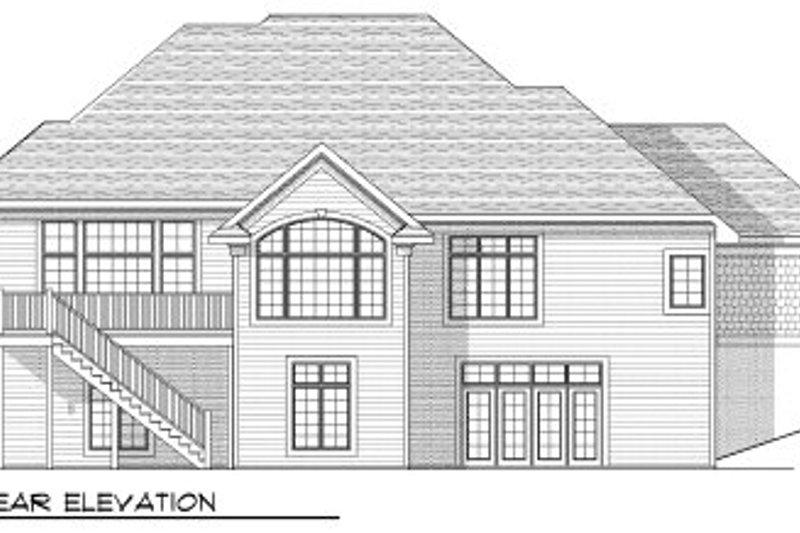 European Exterior - Rear Elevation Plan #70-808 - Houseplans.com