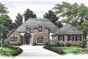 European Exterior - Front Elevation Plan #325-222