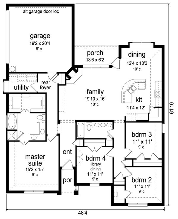 Traditional Floor Plan - Main Floor Plan Plan #84-586