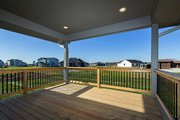 Ranch Style House Plan - 2 Beds 2 Baths 1703 Sq/Ft Plan #70-1458 Exterior - Covered Porch