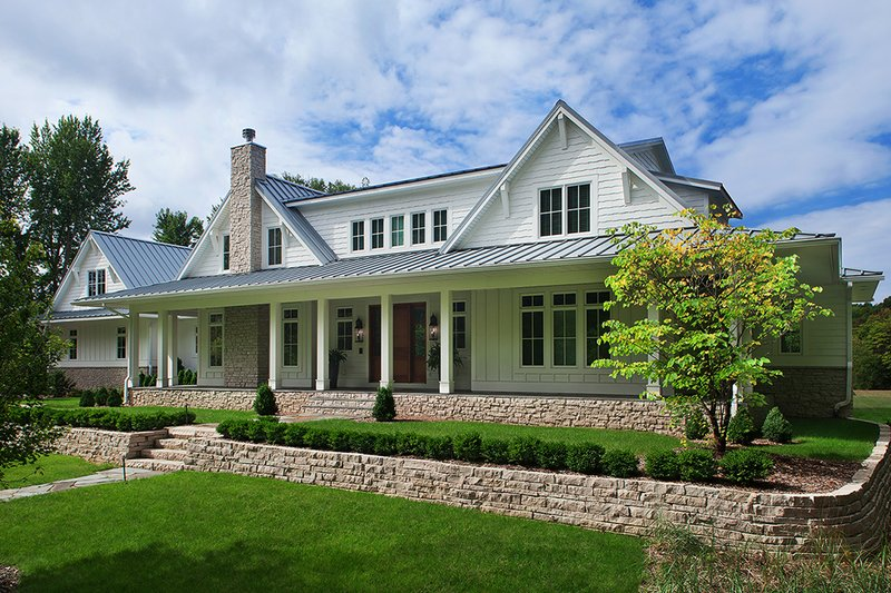 Architectural House Design - Country Exterior - Front Elevation Plan #928-276