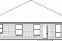 House Design - Traditional Exterior - Rear Elevation Plan #84-108