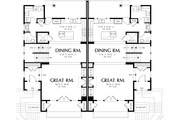 Modern Style House Plan - 3 Beds 2.5 Baths 2861 Sq/Ft Plan #48-261 Floor Plan - Main Floor