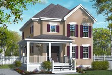 Country Exterior - Front Elevation Plan #23-2250