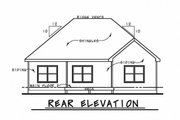 Ranch Style House Plan - 3 Beds 2.5 Baths 1886 Sq/Ft Plan #20-2299 Exterior - Rear Elevation