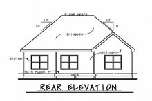 House Plan Design - Ranch Exterior - Rear Elevation Plan #20-2299